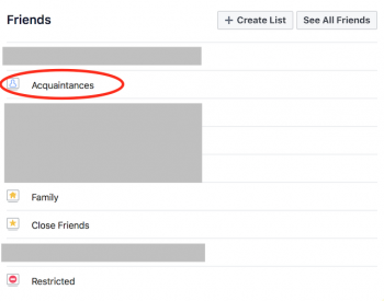 how to make someone an acquaintance on facebook mobile app