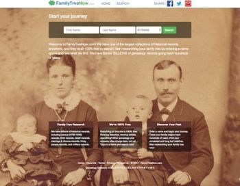 familytreenow-home-page
