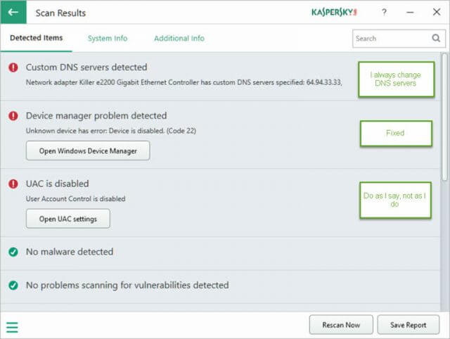 Kaspersky System Checker – A Short Review | Daves Computer Tips