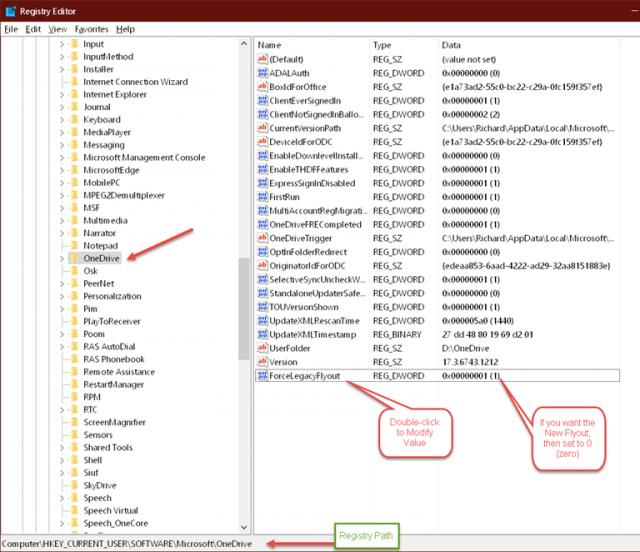 onedrive-registry-settings