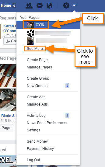 How to edit facebook business page template daves computer tips you should see the page name you are looking for here just click on it if you dont see the name of the facebook page click on see more accmission Images