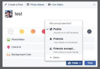 facebook-friends except-option