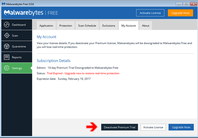 How To Convert Malwarebytes Premium Trial To Free | Daves
