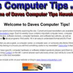 Daves Computer Tips – A Little History