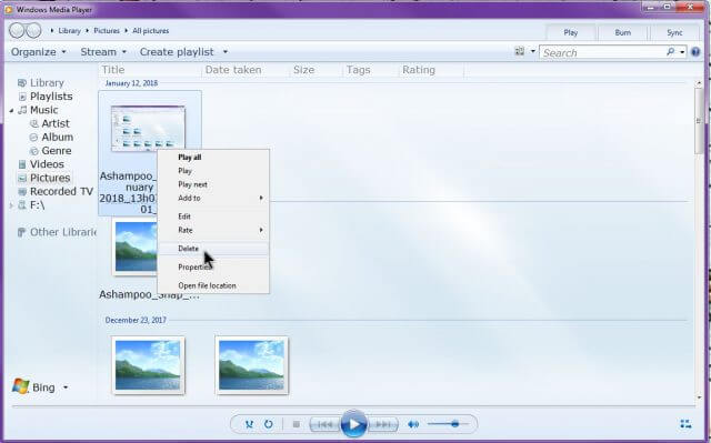 remove-items-from-library-windows-media-player