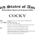 Romantic Novelist Trademarks The Word 'Cocky'