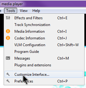vlc-customize-interface