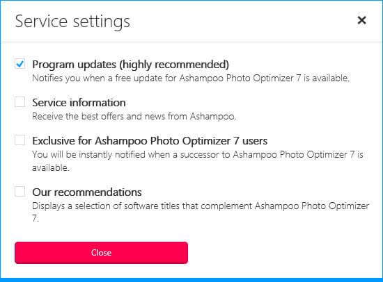 photo-optimizer-7-service-settings