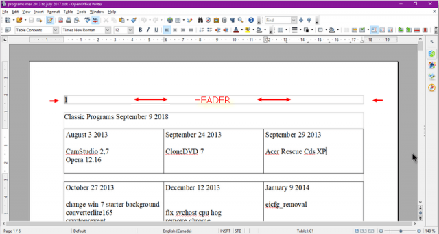openoffice-header-in-a-document