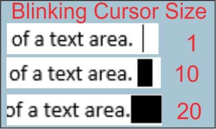Blinking Cursor Size