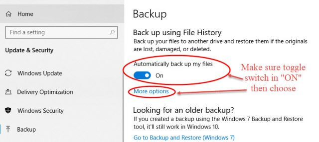 turning-on-file-history-and-selecting-options