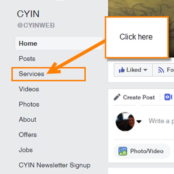 facebook-page-side-menu