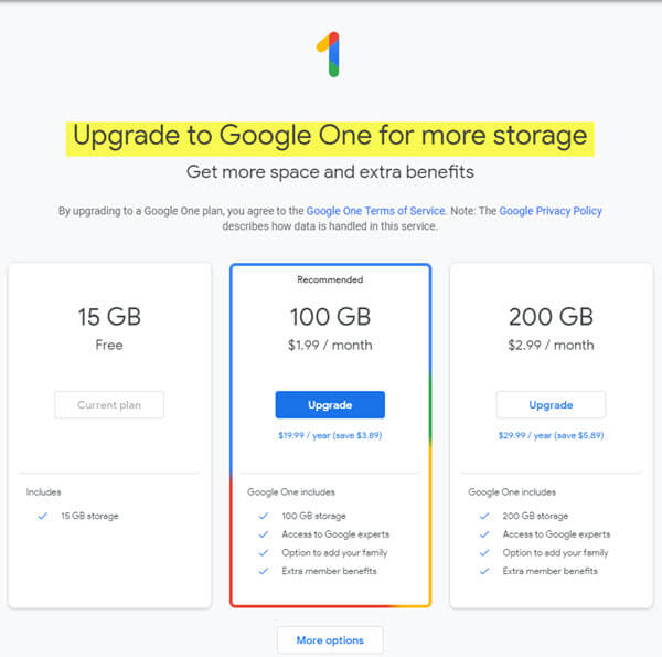 google-storage-upgrade-options