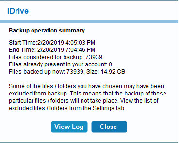 idrive-backup-completion-message
