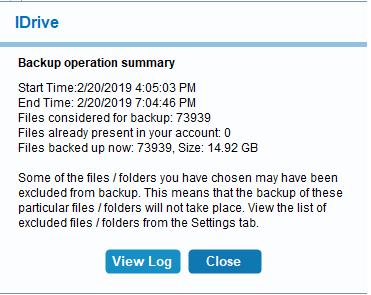 idrive-backup-completion-message