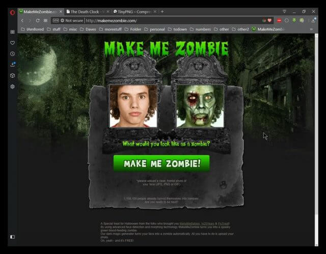 www.makemezombie.com-website
