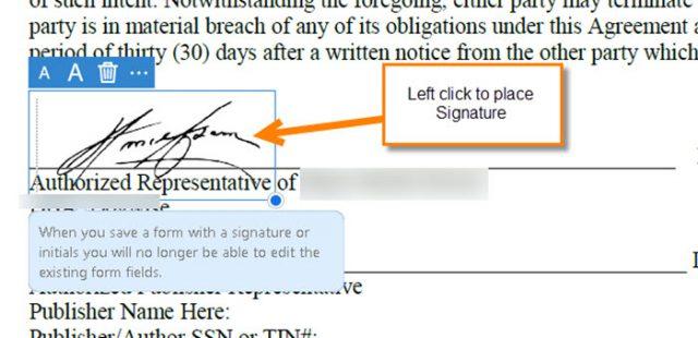 place-signature