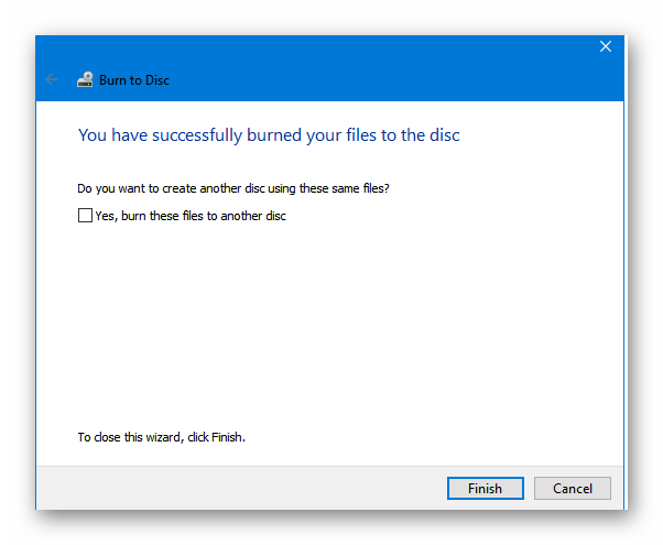 windows 10-you-have-successfully-burned-your-files-to-the-disc