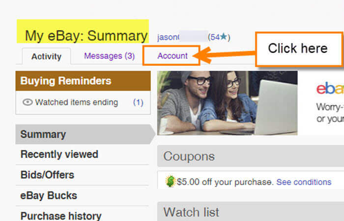 How To Change Automatic Payment Method On eBay | Daves Computer Tips