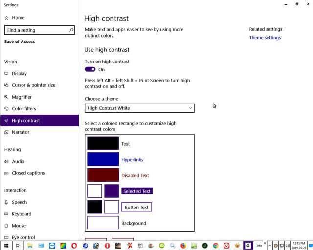 windows-10-high-contrast-white-theme