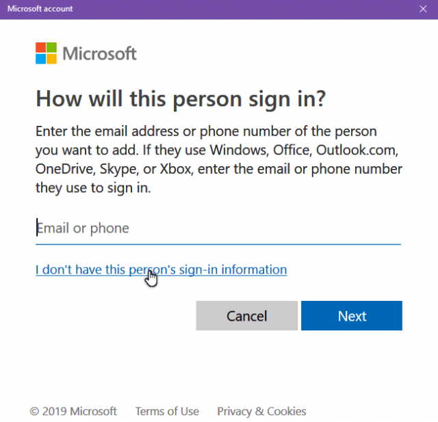 windows-10-i-don't-have-sign-in-information
