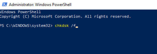 type-chkdsk-command