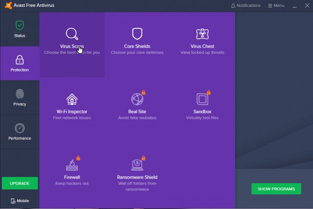 avast-click-on-protection-virus-scans