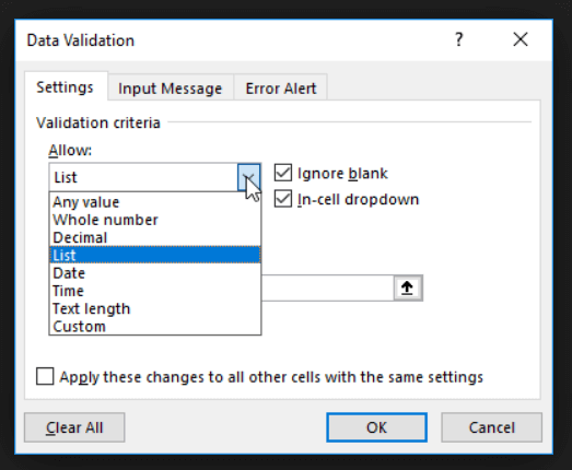 data-validation