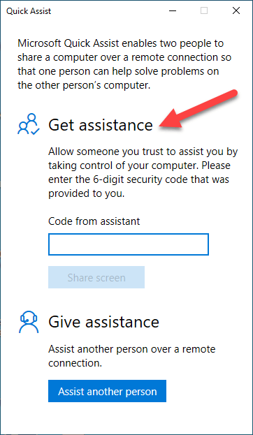 get-assistance