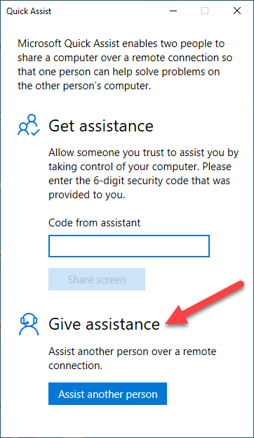 give-assistance