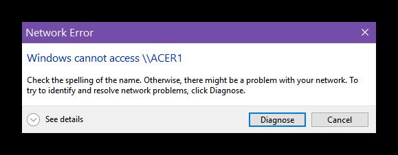 network-error-windows-cannot-access