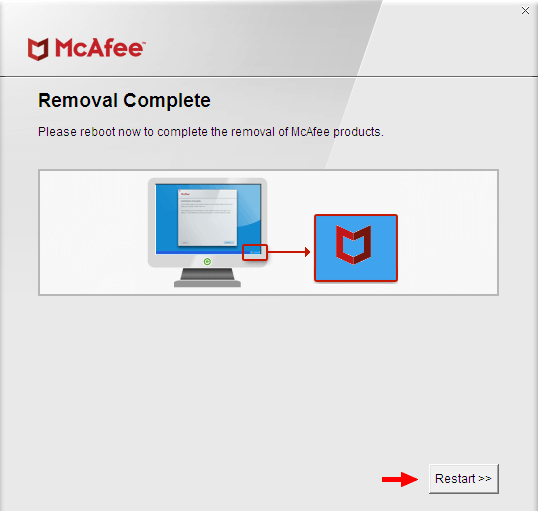 mcafee-software-removal-complete-restart
