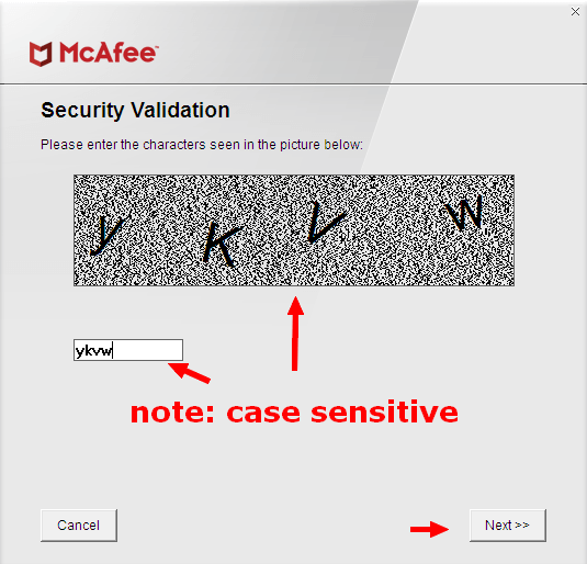 mcafee-software-removal-security-validation