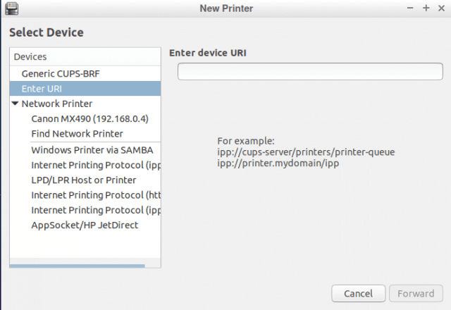 lubuntu-new-printer-options