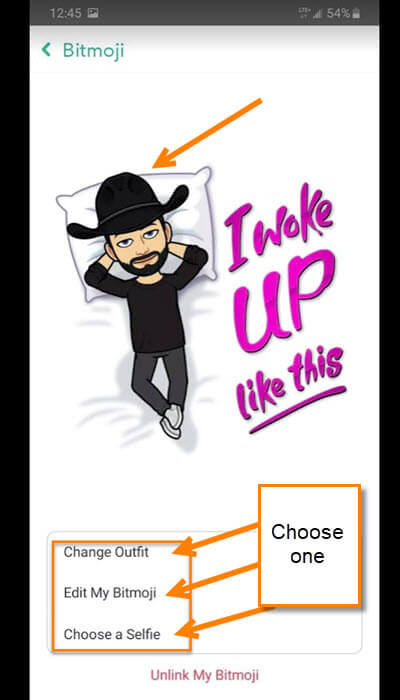 bitmoji-edit-options