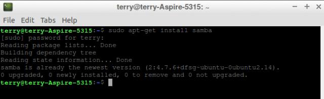 lubuntu-install-samba-lubuntu-terminal