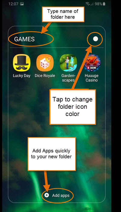 folder-option-screen