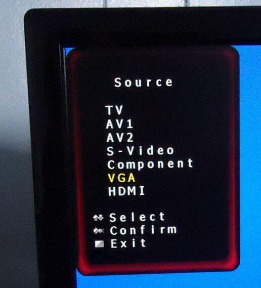 hisense-tv-input-menu-vga-selected