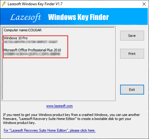 lazesoft-windows-key-finder