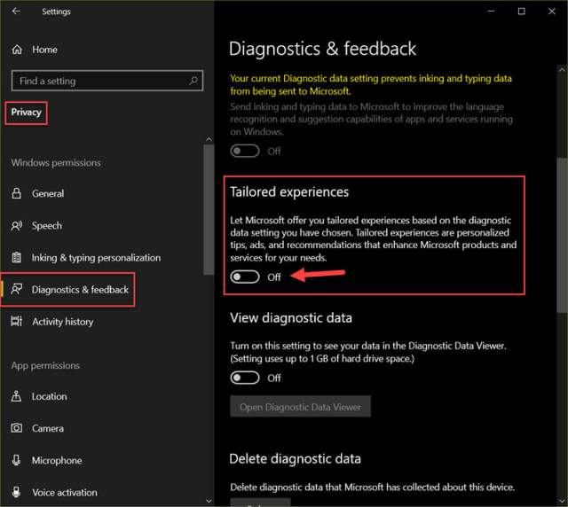 diagnostics-feedback-settings