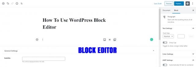 gutenberg-block-editor