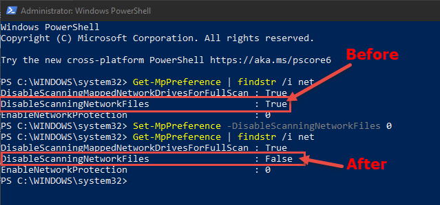 powershell-command-enable-scanning-network