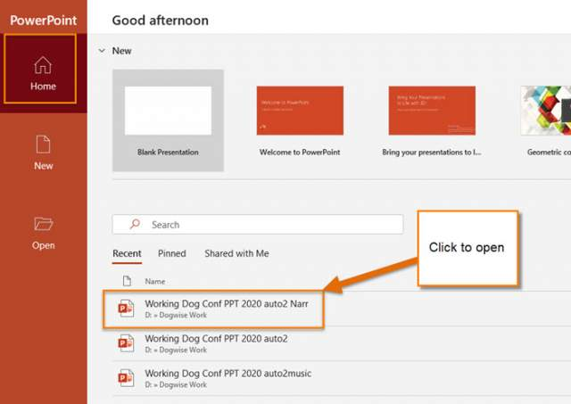 powerpoint-home-screen