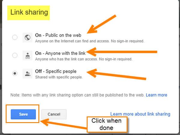 link-sharing