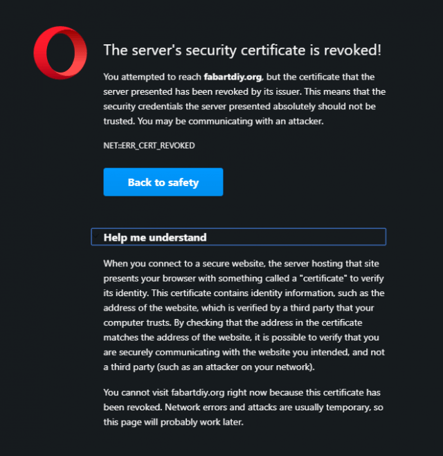 opera-warning-the-server's-security-certificate-is-revoked