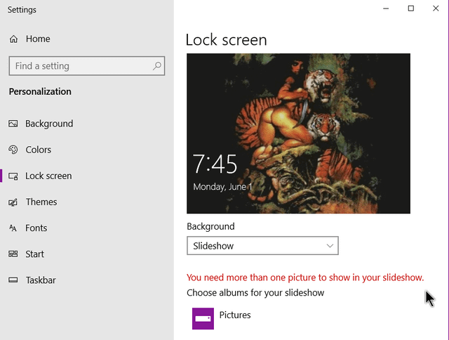 windows-10-lock-screen-options-set-to-picture-not-slideshow