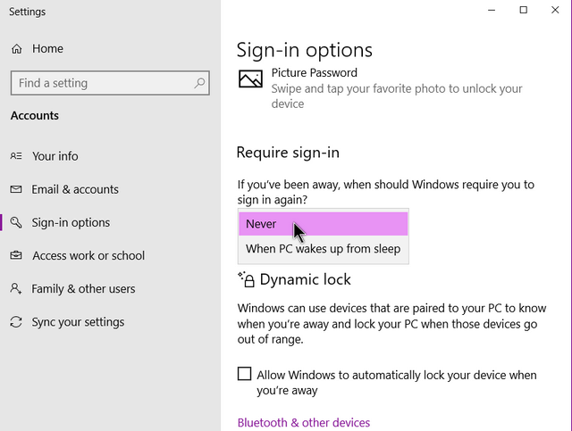 windows-10-sign-in-option-require-set-t-never