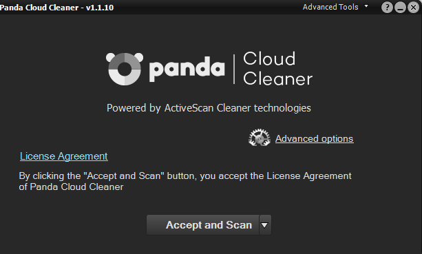 panda cloud cleaner interface