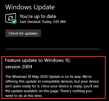 windows-update-2004-not-ready-notification