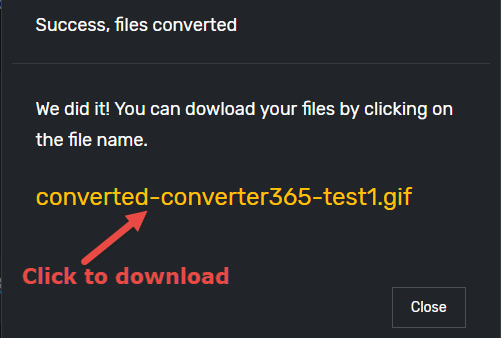 Converter365 Download Converted File